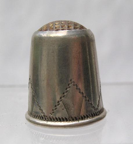 Scandinavian silver thimvle