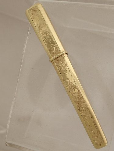 18ct Gold needle case ML404