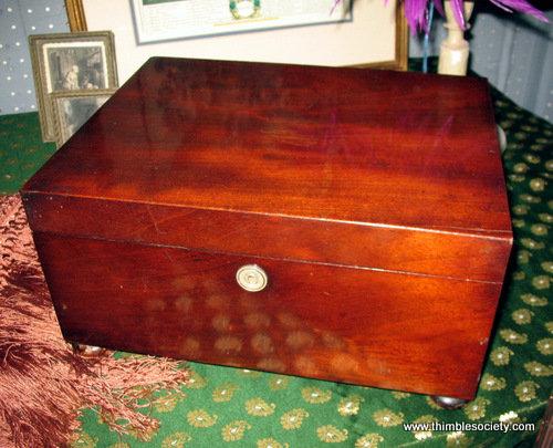 Georgian mahogany sewing box