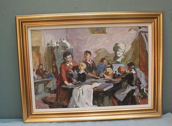 Painting,Ukraine, 1950s