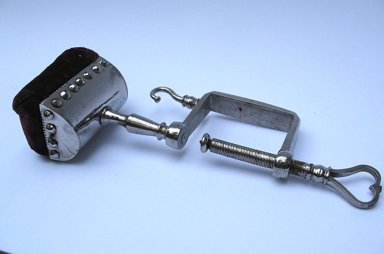 Clamp, polished steel.