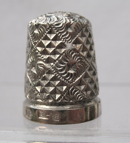 Silver thimble by H.Griffiths