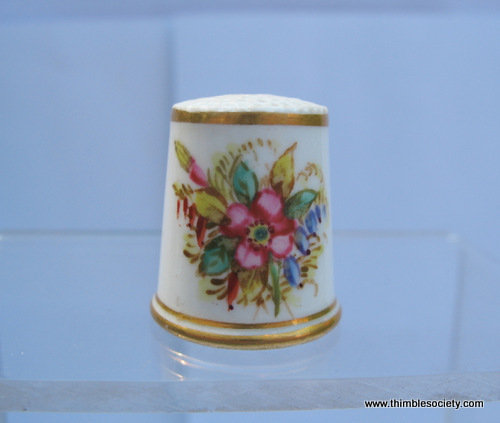 Probably Worcester thimble c.1900