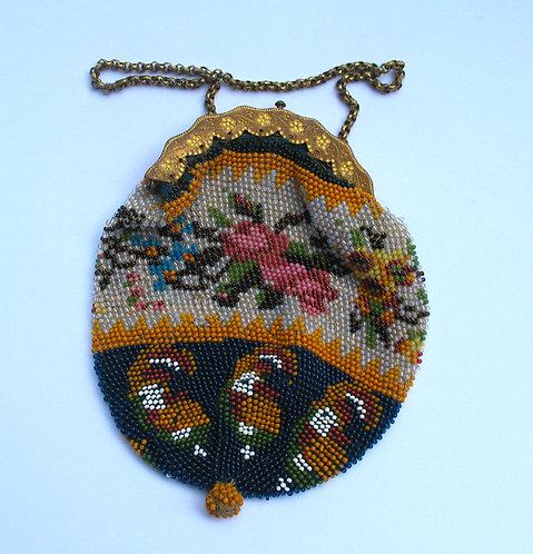 Purse in fine bead work.