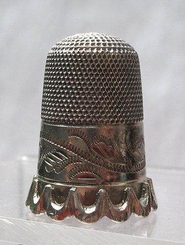 Silver thimble c.1880