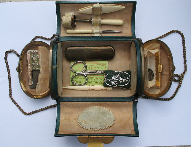 Sewing box with tools