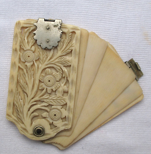 Carved ivory or bone aide-memoire