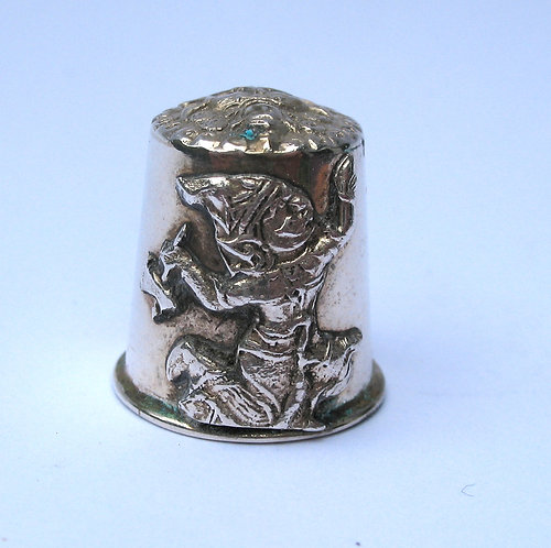 Thimble, silver from Thailand