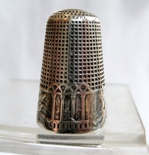 Silver French Fable thimble