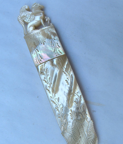 Mother-of-pearl needle case