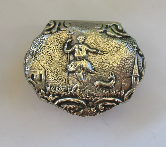 Dutch C18th silver snuff box