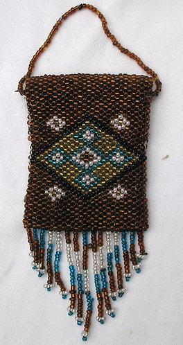Autumnal beadwork purse
