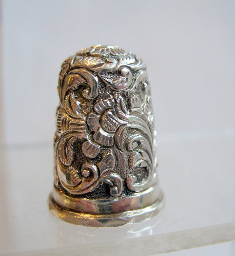 Indian silver thimble, cir 1880 F130