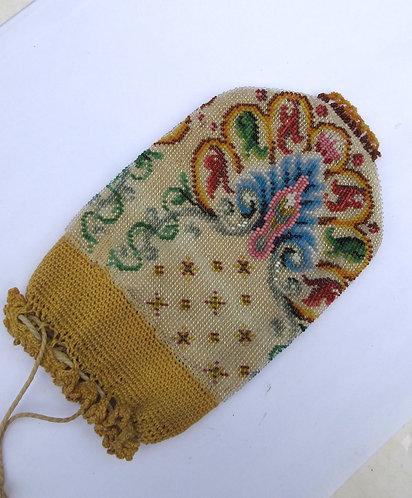 Bead work purse, fine work excellent condition