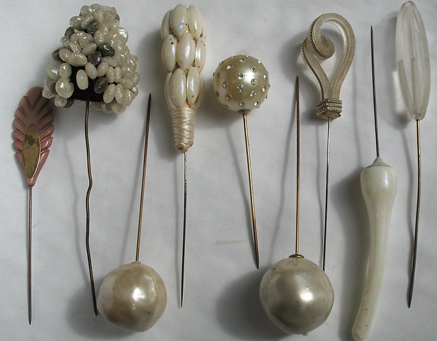 Selection of hat pins