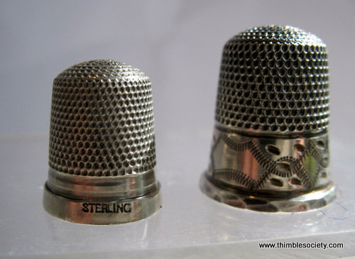 Child's 'sterling' marked, silver thimble c.1930