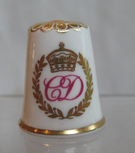 Commemorative thimble by spode china