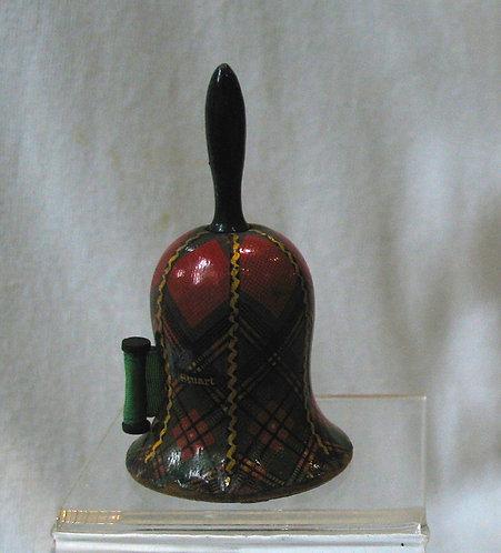 Tartan ware bell shaped tape measure