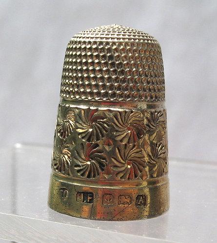 Silver gilt thimble 1925