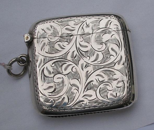 Decoatively engraved vesta