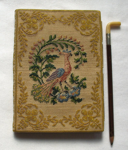 Embroidered card case