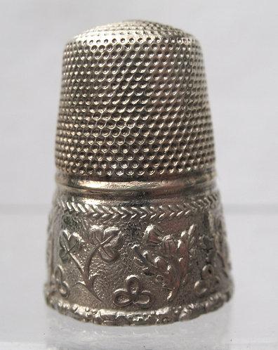Rare English silver Victorian commemorative thimble c.1840