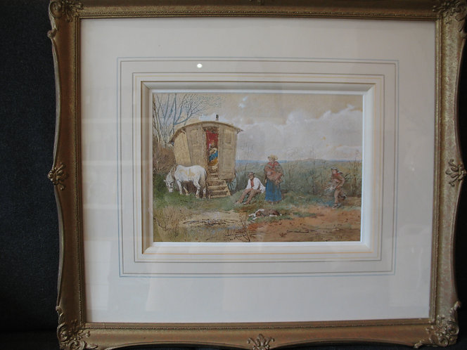 Painting. Watercolour by James Mahony.