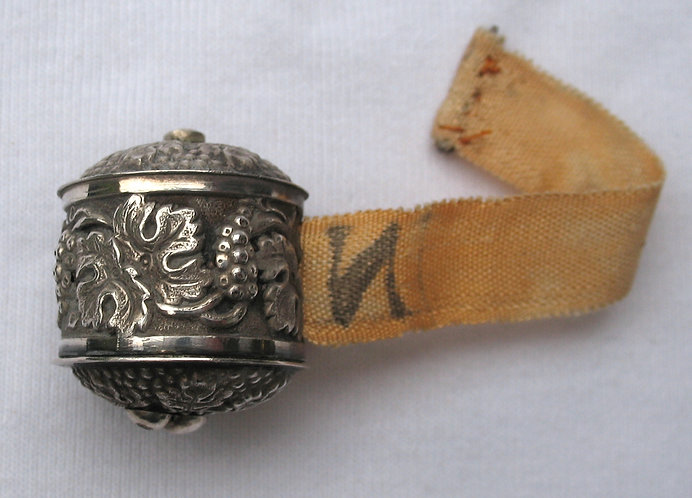 Early silver tape measure