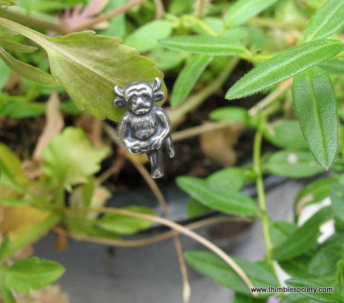 Silver Imp Hat Pin