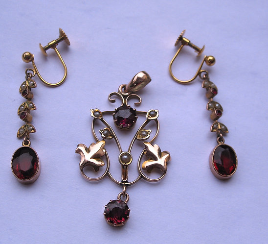 jewellery, pendant and earrings