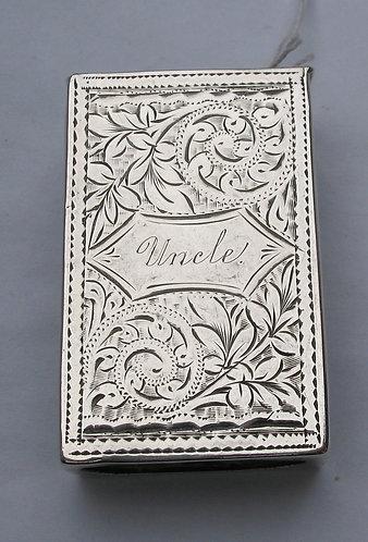 Vesta engraved 'Uncle'
