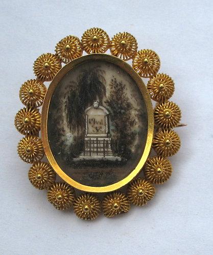 Gold memorial brooch c.1790