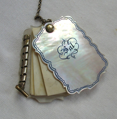 Mother-of-pearl 'bal' card