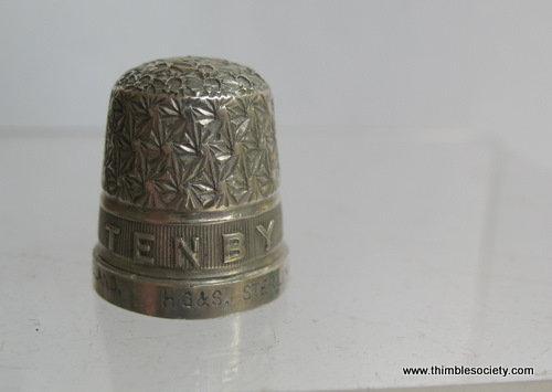 Tenby' silver thimble