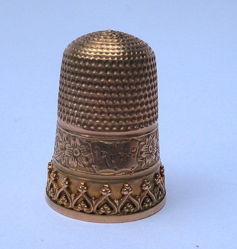 Thimble in gold from USA
