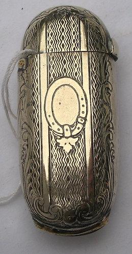 Gilded brass French vesta