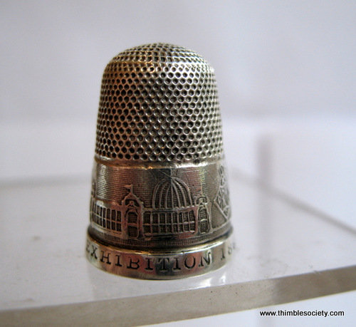 Silver English commemorative thimble
