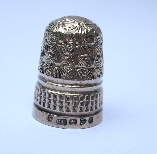 Thimble. silver hll mkd C.H. Ches 1897