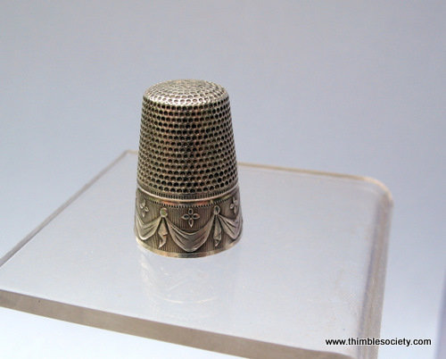 French silver thimble Z169