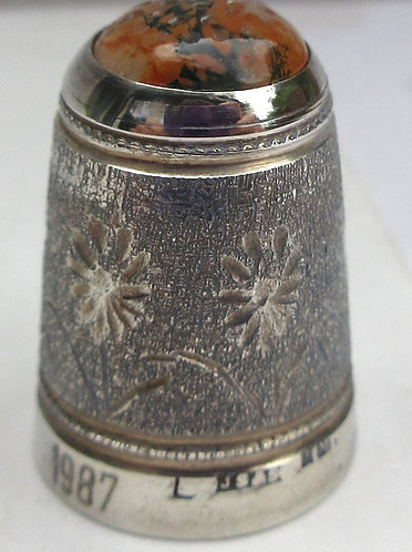 silver thimble, Agate top