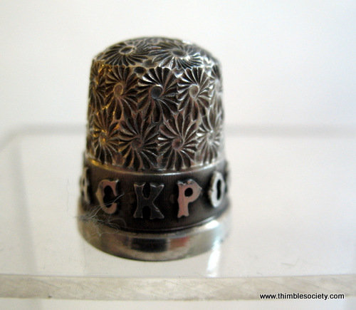 Blackpool' large letters place name silver thimble