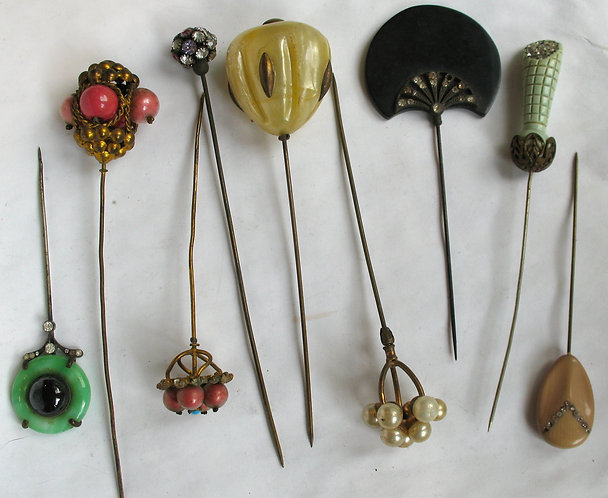 Deco selection of hat pins