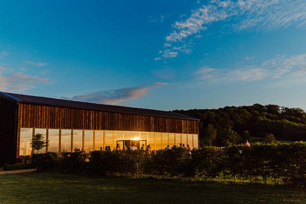 Primrose Hill Farm Wedding Venue at Sunset