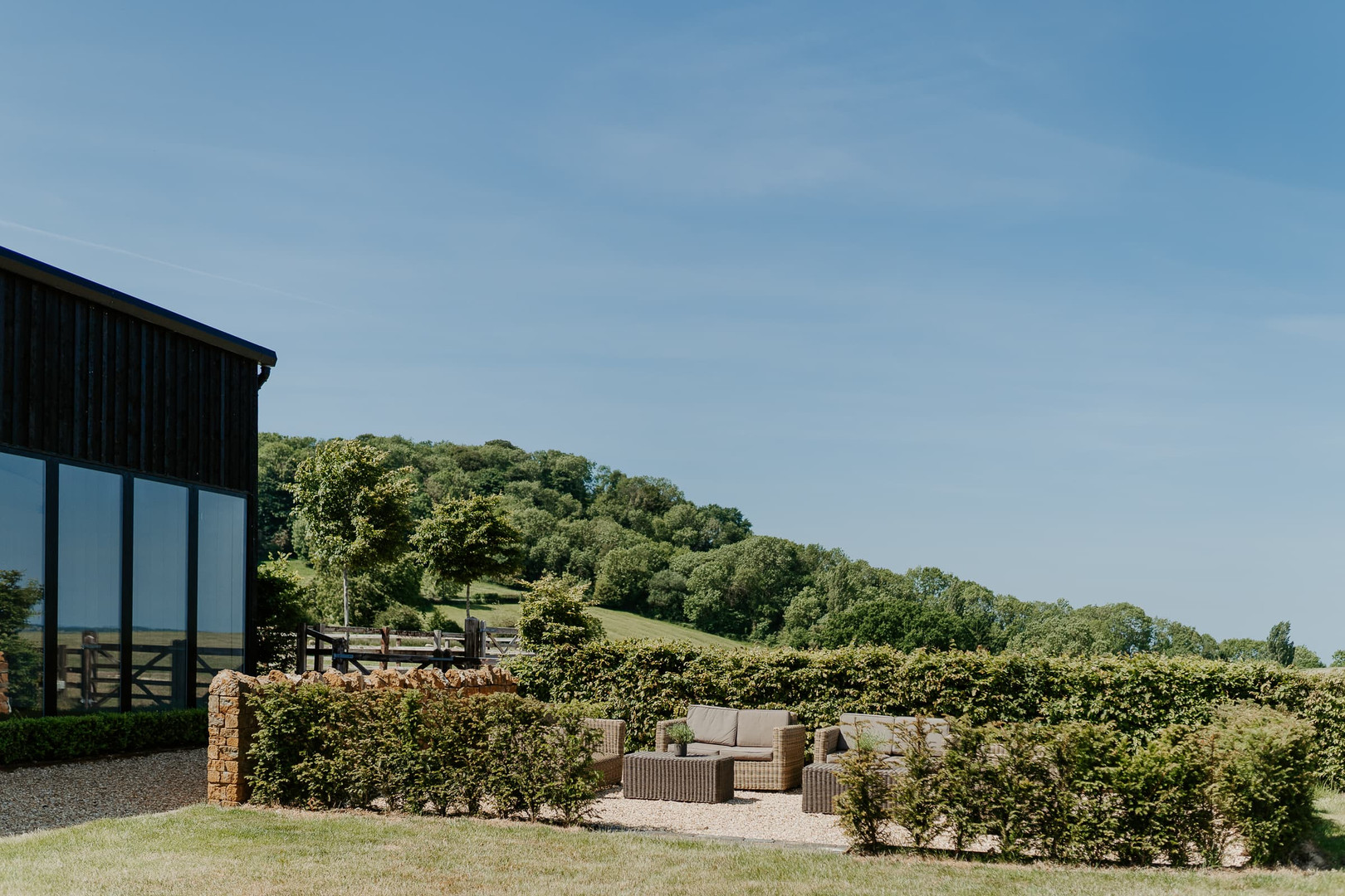 Primrose Hill Farm Wedding Venue with view of the cotswolds