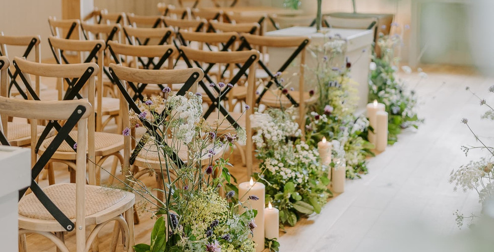 Modern Wedding Ceremony Barn in The Cotswolds Oxfordshire