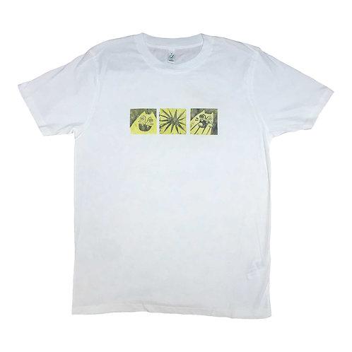 Green cat t-shirt