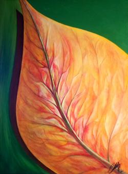 Green Leaf  18x24 acrylic