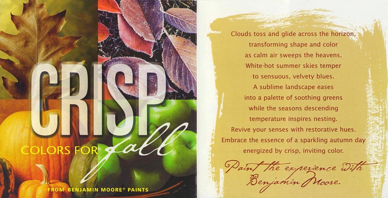 BM Crisp Colors for Fall Brochure