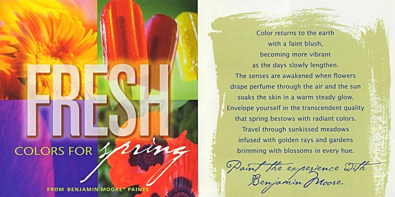 BM Fresh Colors for Spring Brochure