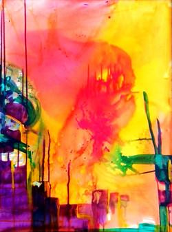 Industrial Disease  30 x 40 acrylic